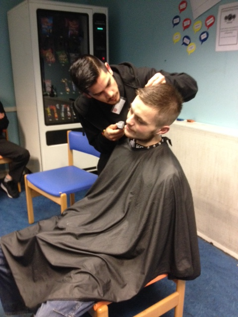Edinburgh College barbering students provide haircuts for the Homeless