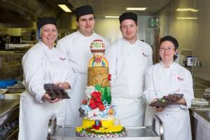 edinburgh Cookery students