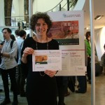 Edinburgh College Student Anna Elez Rodrigo celebrates her People's Choice award at Creative Exchange.