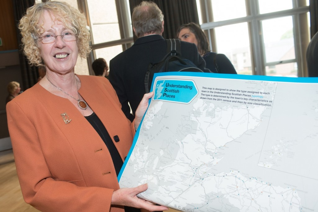 Margaret Burgess MSP (Minister for Housing and Welfare) launches the Understanding Scottish Places Toolkit, in Musselburgh.