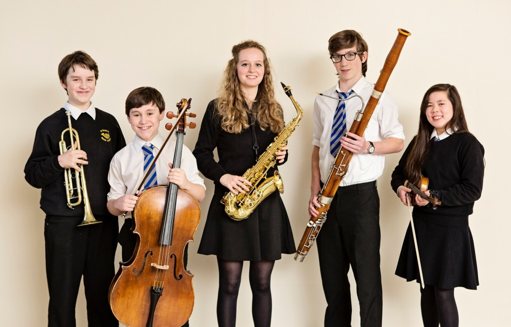 Young instrumentalists from St Mary's Music School, Edinburgh