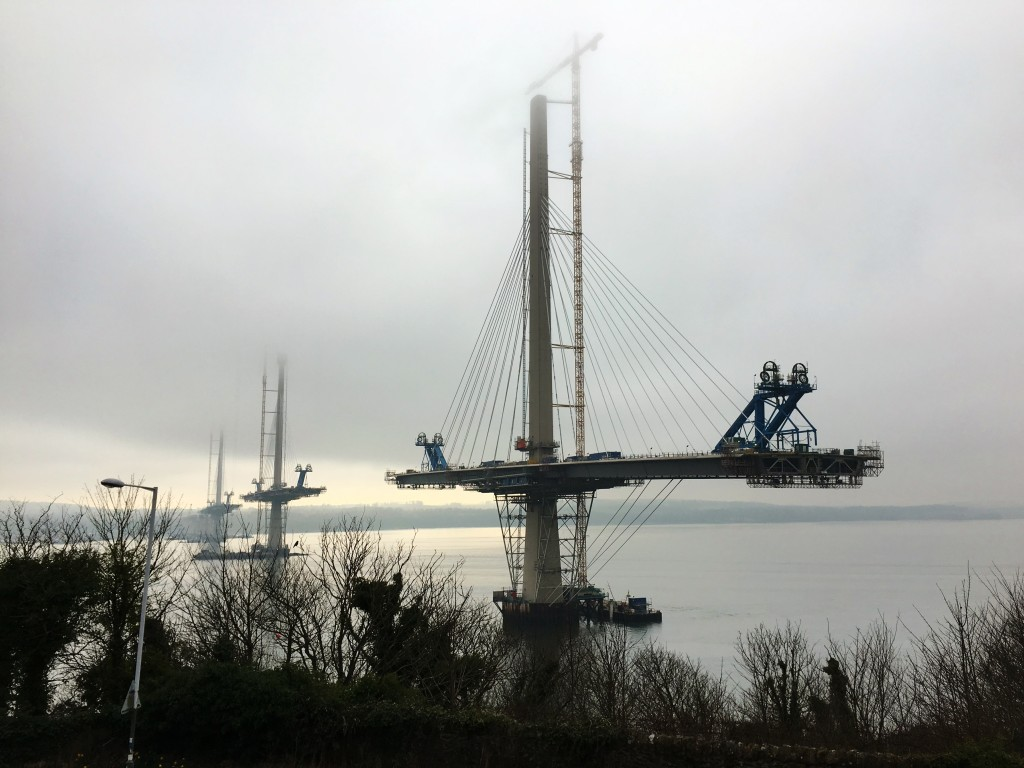 New Forth Road Bridge under construction 2016