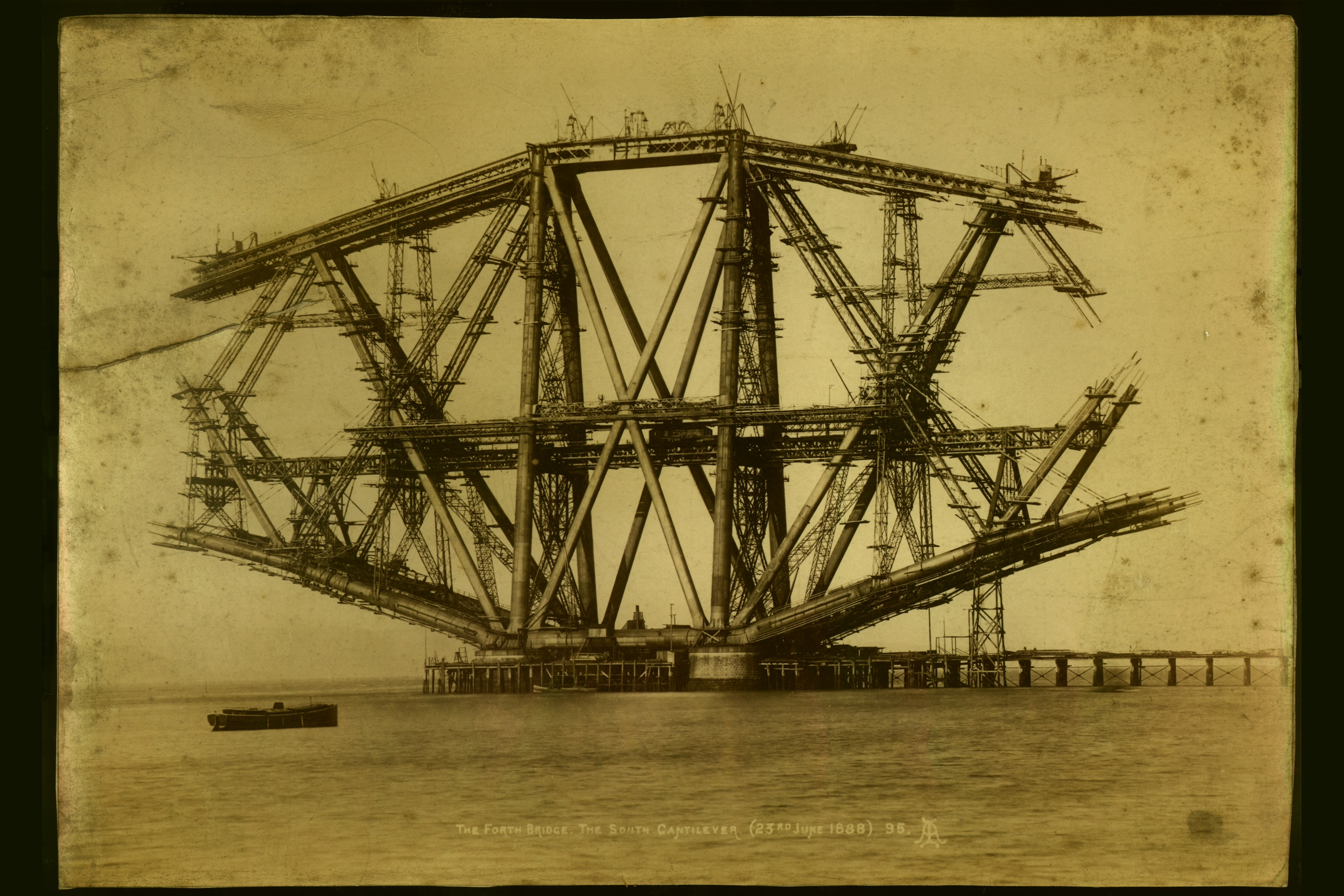 The Forth Railway Bridge under construction in 1887 (3000x2000)