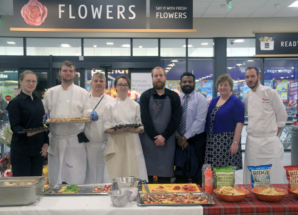 Cookery students at Aldi