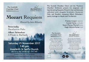 Scottish Chamber Choir sings Mozart's Requiem