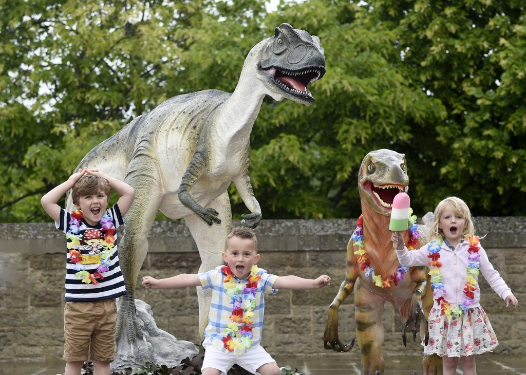 FREE FIRST USE  11th June 2018  Dynamic Earth 2018 Summer Programme Launch  - Design your own dinosaur.  Pictured is Mason Livingstone age 4, Alexander McColville age 5.5 and Freya Haig age 3.  Lesley Martin 07836745264 lesley@lesleymartin.co.uk www.lesleymartin.co.uk  All images © Lesley Martin 2018. Free first use only for editorial in connection with the commissioning client's press-released story. All other rights are reserved. Use in any other context is expressly prohibited without prior permission.