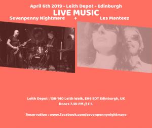Live Music Les Manteez & Sevenpenny Nightmare