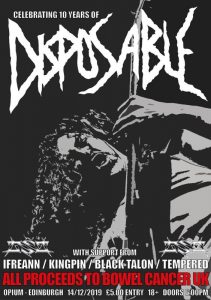 Disposable – 10 Year Anniversary Charity Show