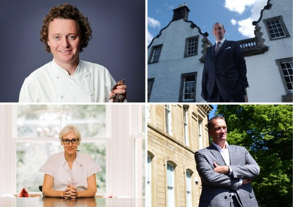 (Top L-R) Tom Kitchin, James Thomson (Bottom L-R) Carina Contini, Nic Wood 1